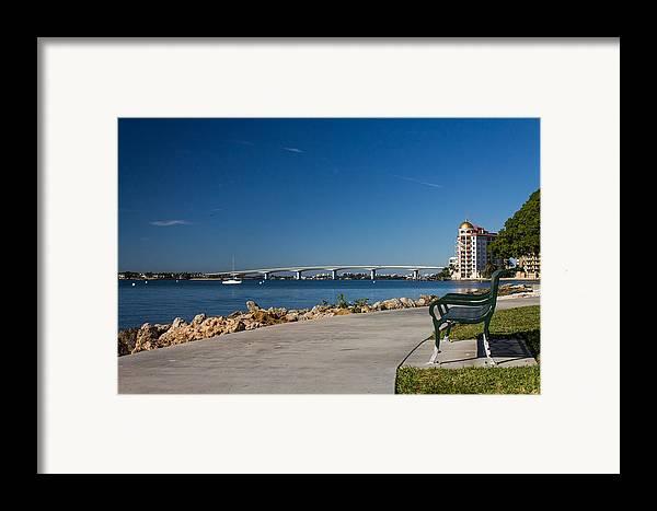 Marina Jacks Framed Print featuring the photograph Sunrise At Ringling Bridge by Michael Tesar