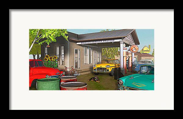 Antique Cars Framed Print featuring the photograph Sunrise At Smittys by Peter J Sucy