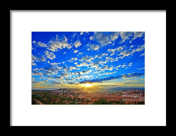 Bryce Canyon Framed Print featuring the photograph Sunrise at Sunrise Point by Greg Clure