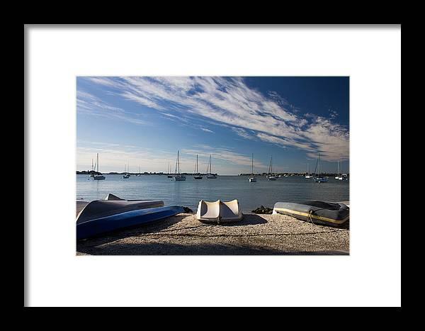Marina Jacks Framed Print featuring the photograph Sunrise At The Bay by Michael Tesar