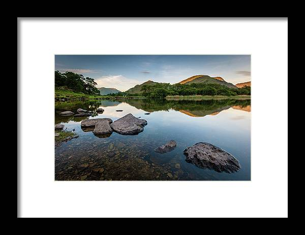 Lake District Framed Print featuring the photograph Sunrise at Ullswater, Lake District, North West England by Anthony Lawlor