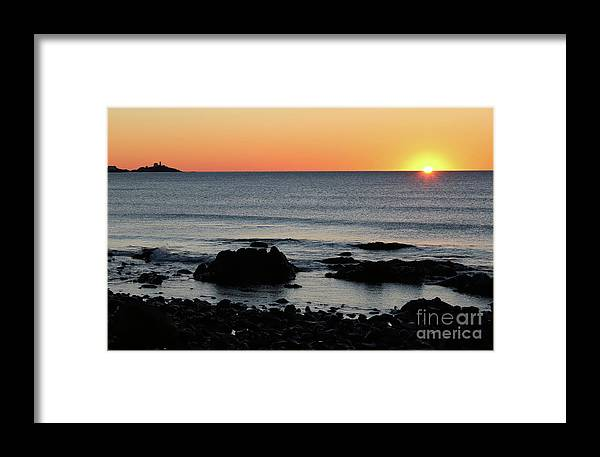 Long Framed Print featuring the photograph Sunrise At York Beach by Steve Gass