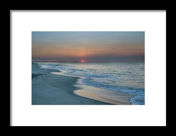 Sunrise Framed Print featuring the photograph Sunrise - Cape May Beach by Bill Cannon