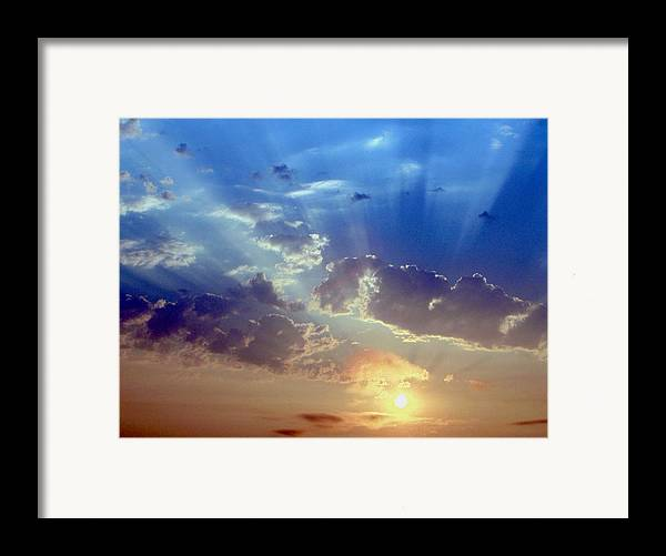 Sunrise Framed Print featuring the photograph Sunrise by Carl Capps