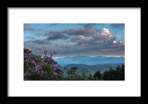 Blue Ride Parkway Framed Print featuring the photograph Sunrise Clouds by Barbara Hayton