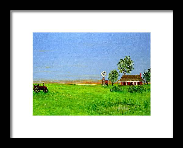 Australia Framed Print featuring the painting Sunrise - Country Australia Painting by Fran Caldwell