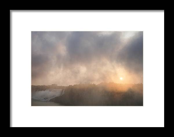 Sunrise Framed Print featuring the photograph Sunrise Falls by Steven R Breininger