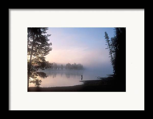 Wyoming Framed Print featuring the photograph Sunrise Fishing In The Yellowstone River by Michael S. Lewis