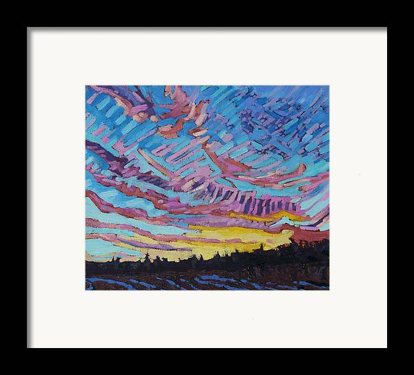 1906 Framed Print featuring the painting Sunrise Freezing Rain Deformation Zone by Phil Chadwick