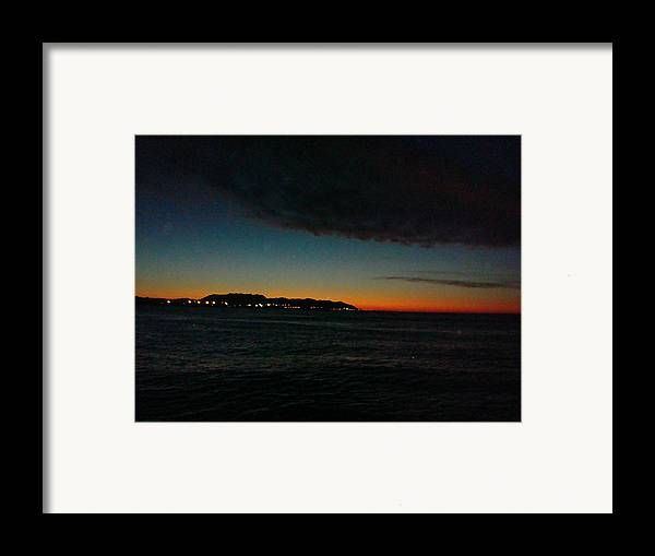 Sunrise Framed Print featuring the photograph Sunrise From The Boat by Liz Vernand