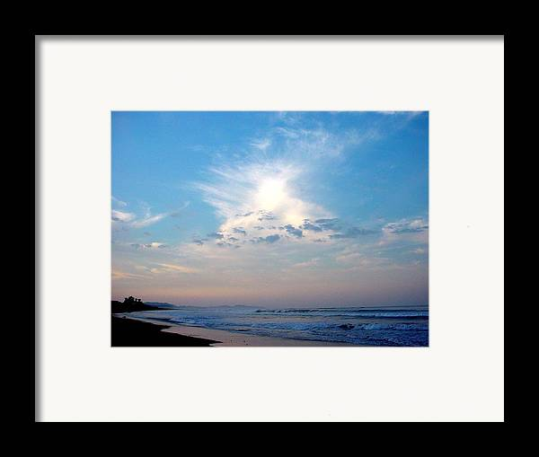 Sunrise Framed Print featuring the photograph Sunrise In Costa Rica by PJ Cloud