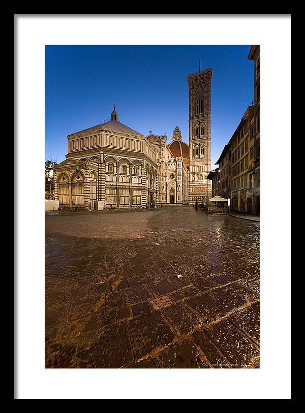 Italy Framed Print featuring the photograph Sunrise In Florence 2 by Luigi Barbano BARBANO LLC
