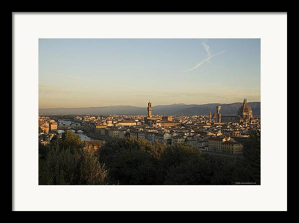Landscape Framed Print featuring the photograph Sunrise In Florence by Luigi Barbano BARBANO LLC