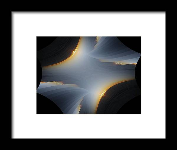Sunrise Framed Print featuring the digital art Sunrise In Fractal by Tim Allen