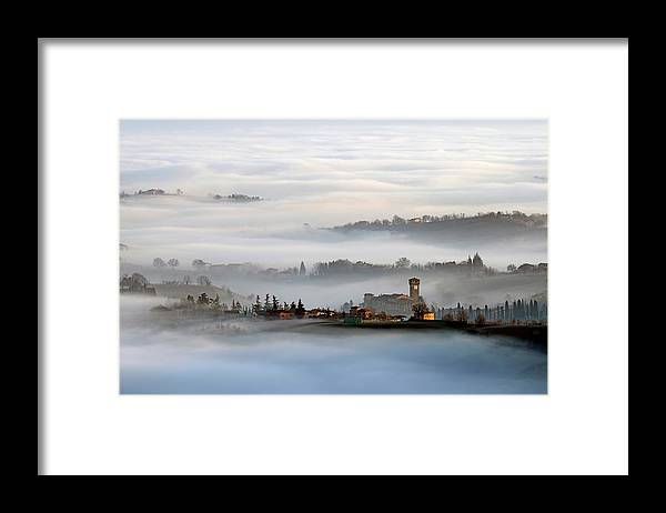 Sunrise Framed Print featuring the photograph Sunrise In Levizzano by Andrea Gabrieli