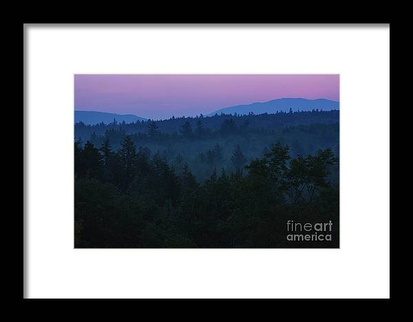Clouds Framed Print featuring the photograph Sunrise - Kancamagus Highway, New Hampshire by Erin Paul Donovan