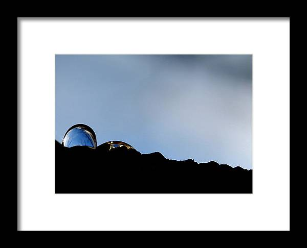 Rain Drop Framed Print featuring the photograph Sunrise by Marilynne Bull