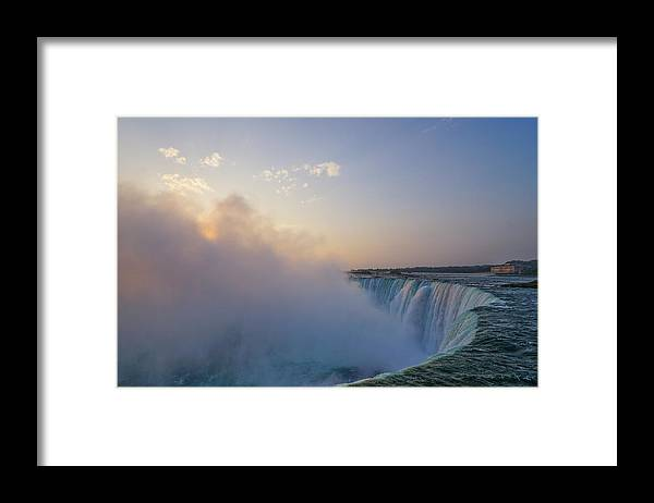 Waterfalls Framed Print featuring the photograph Sunrise Niagara Falls by Steven R Breininger
