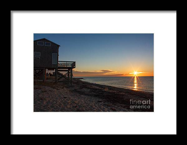 Cottage Framed Print featuring the photograph Sunrise On Beach Road, Falmouth by Jim Hayes