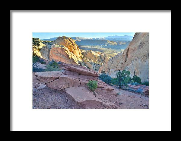 Capitol Reef National Park Framed Print featuring the photograph Sunrise On Burr Trail Switchbacks by Ray Mathis