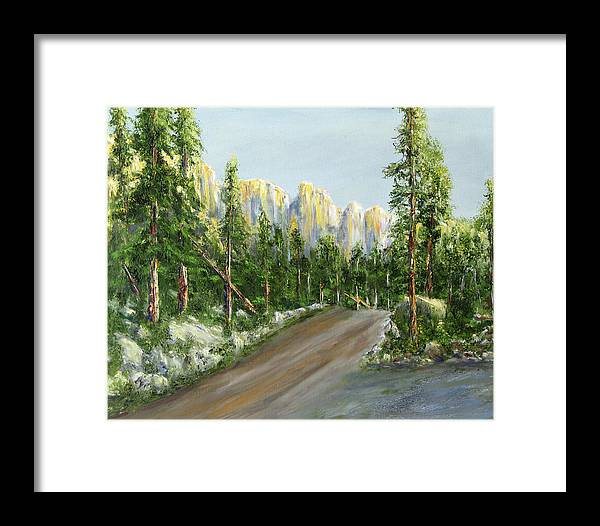 Landscape Framed Print featuring the painting Sunrise On Spruce Mesa by Thomas Restifo