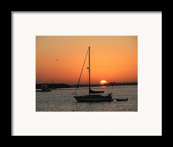 Landscape Framed Print featuring the photograph Sunrise On The Bay by Judy Waller