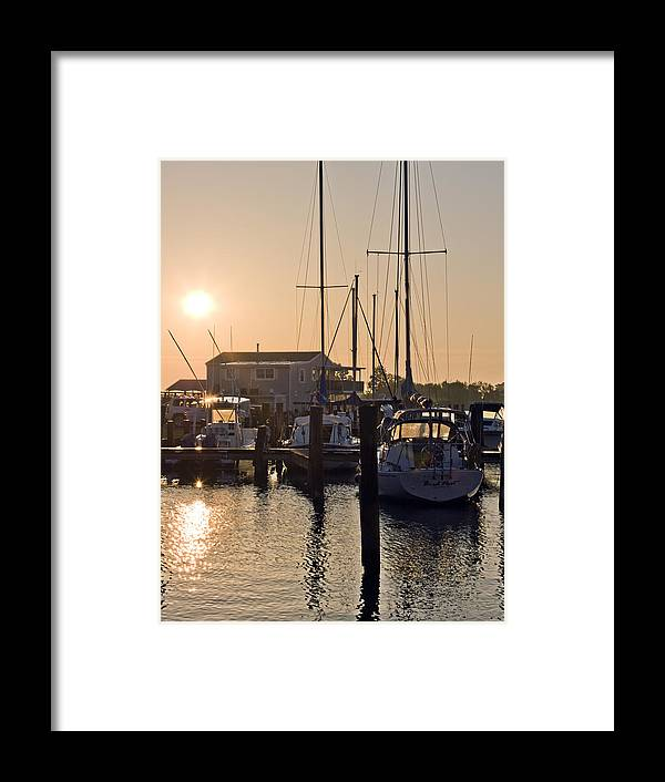 Sunrise Framed Print featuring the photograph Sunrise On The Eastern Shore Of Maryland by Brendan Reals