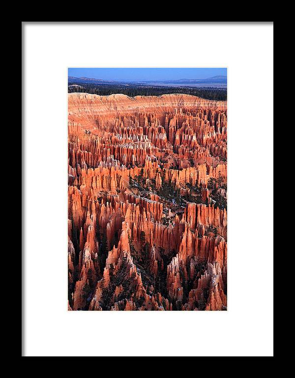 Bryce Framed Print featuring the photograph Sunrise On The Hoodoos Of Bryce Canyon by Pierre Leclerc Photography