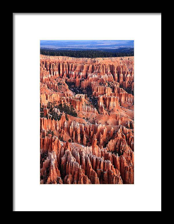 Bryce Framed Print featuring the photograph Sunrise On The Hoodoos by Pierre Leclerc Photography