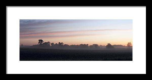 Sunrise Framed Print featuring the photograph Sunrise On The Mists by Peggy King