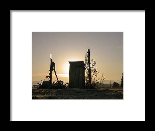 Jim Stephenson Framed Print featuring the photograph Sunrise On The Past by Jim R Stephenson