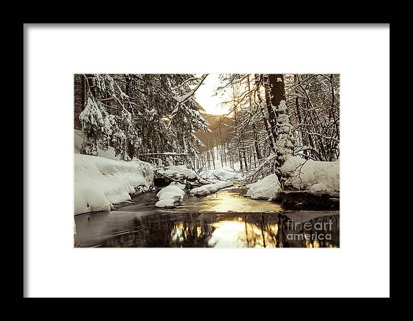 Nature Framed Print featuring the photograph Sunrise On The River by Mirko Chianucci