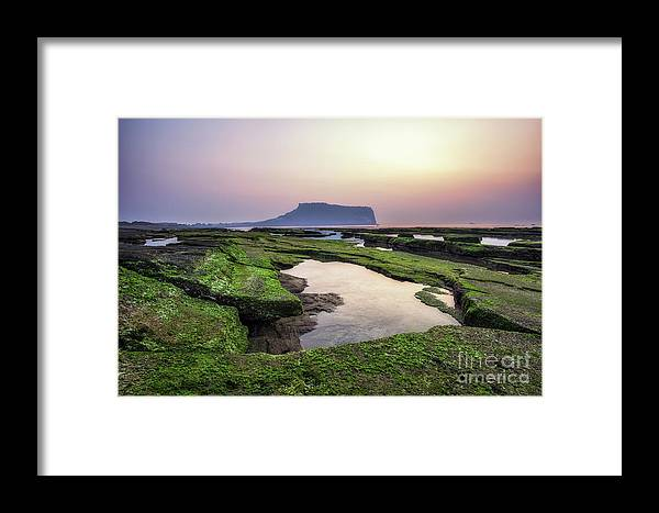 Landscape Framed Print featuring the photograph Sunrise Over Jeju Island by Aaron Choi
