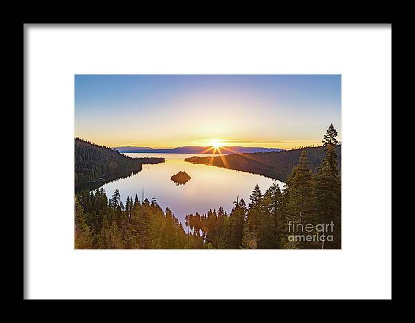 Jyoscape Framed Print featuring the photograph Sunrise Over The Bay by Jyoti Suravarjula