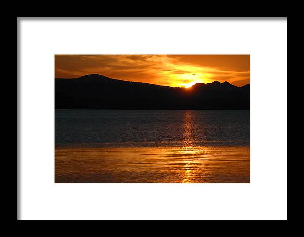 Yellowstone Framed Print featuring the photograph Sunrise Over Yellowstone Lake by Bruce Gourley