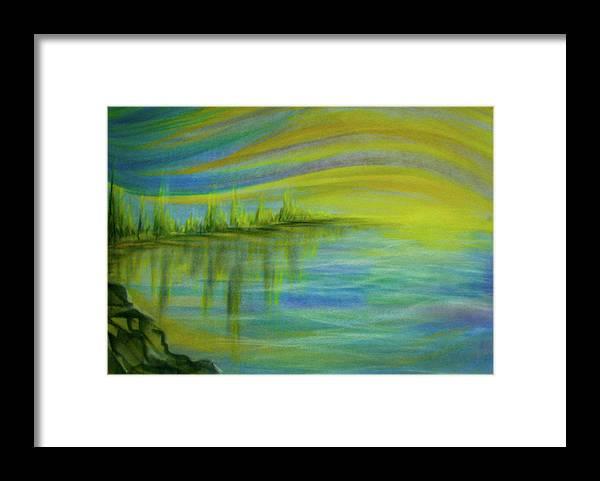 Sunrise Framed Print featuring the pastel Sunrise by Pam Ellis