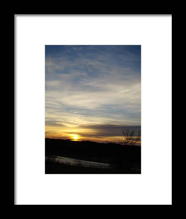 Landscape Framed Print featuring the photograph Sunrise River Four by Ana Villaronga