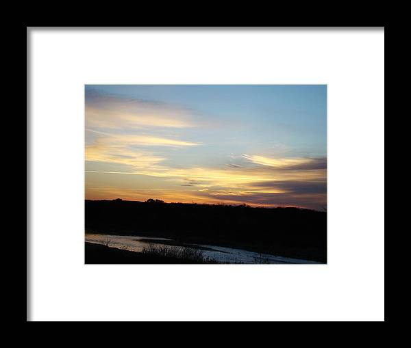 Landscape Framed Print featuring the photograph Sunrise River Three by Ana Villaronga