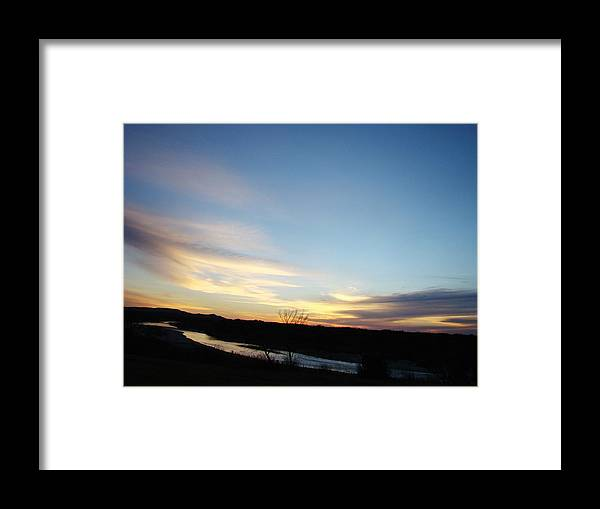 Landscape Framed Print featuring the photograph Sunrise River Two by Ana Villaronga