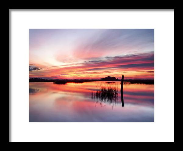 Nature Framed Print featuring the photograph Sunrise Sunset Art Photo - Sailing By Jo Ann Tomaselli  by Jo Ann Tomaselli