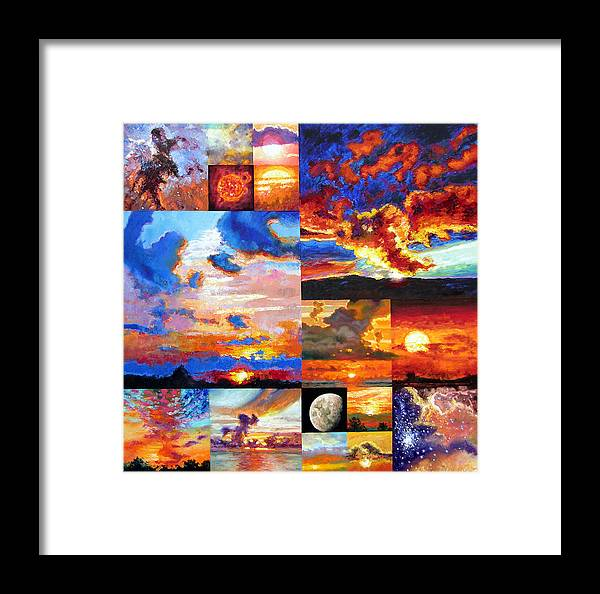 Sunrise Framed Print featuring the painting Sunrise Sunset Sunrise by John Lautermilch