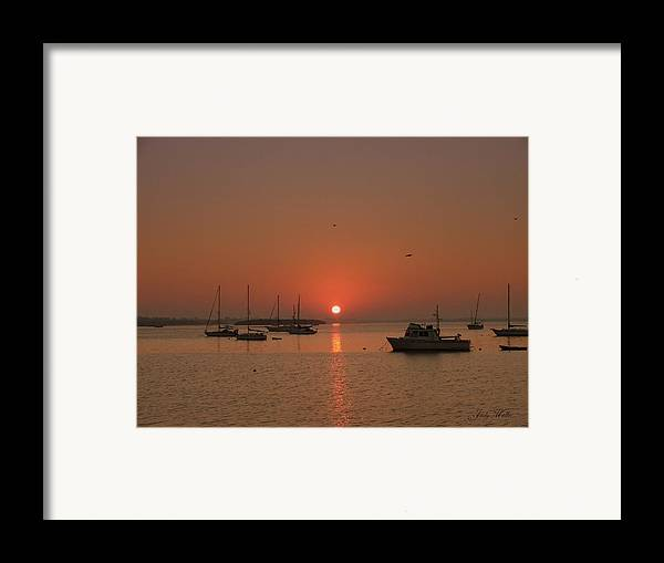 Sunrising Framed Print featuring the photograph Sunrising by Judy Waller