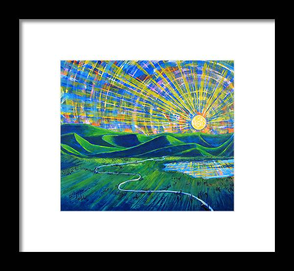Sun Framed Print featuring the painting Sunscape by Rollin Kocsis