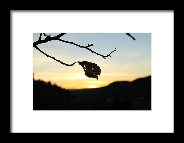 Sunset Framed Print featuring the photograph Sunset by Alena Madosova