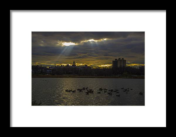 Sunset Framed Print featuring the photograph Sunset by Alexander Fuza