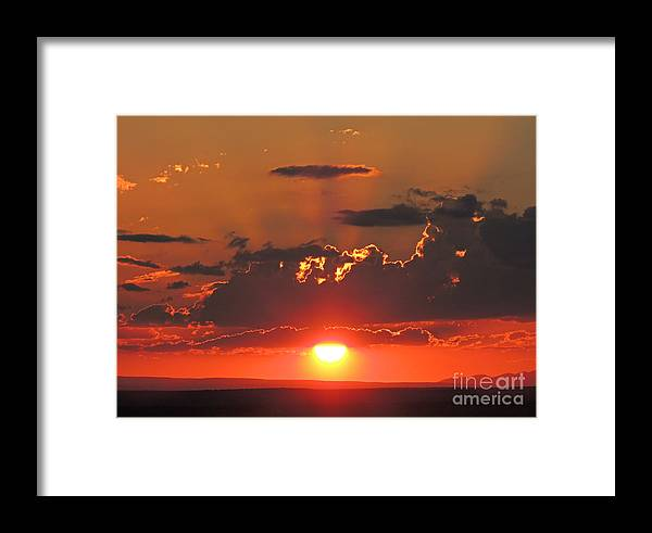 Framed Print featuring the photograph Sunset by Anita Jadhav