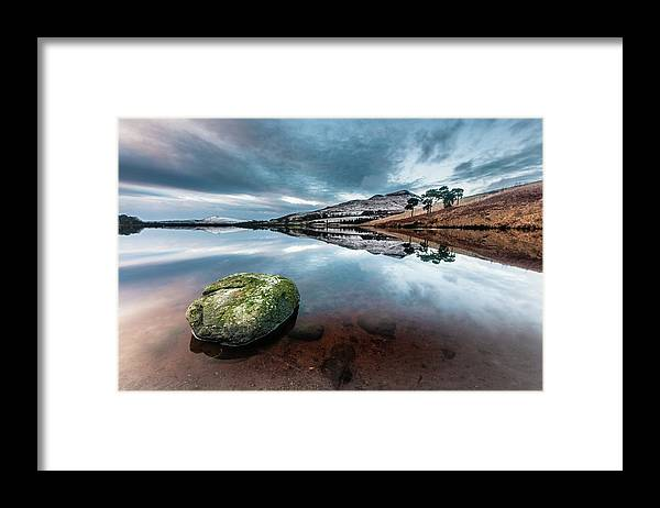 Sunset Framed Print featuring the photograph Sunset at Dovestone Reservoir, Greater Manchester, North West England by Anthony Lawlor