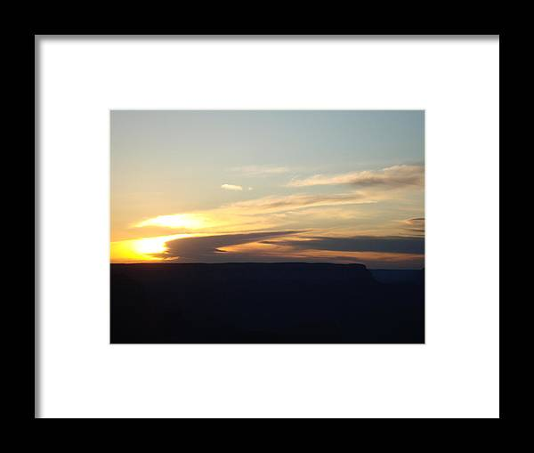 Sunset Framed Print featuring the photograph Sunset At Grand Canyon by Tong Steinle