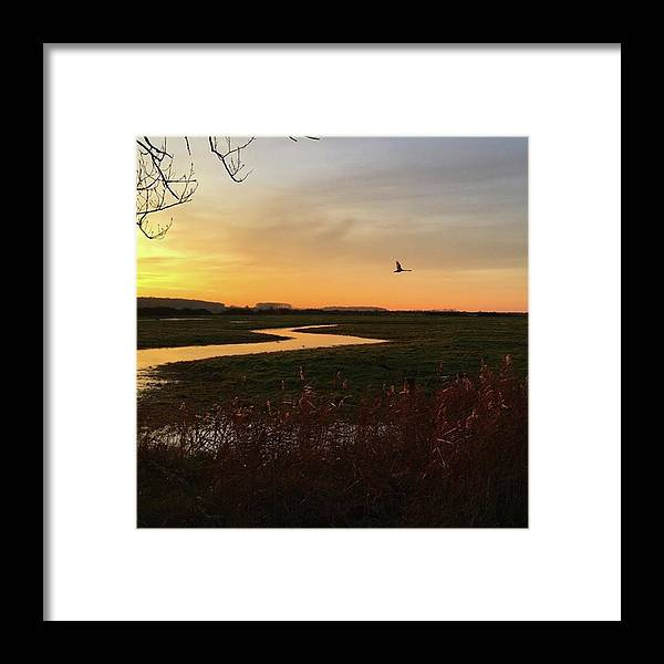 Natureonly Framed Print featuring the photograph Sunset At Holkham Today  #landscape by John Edwards