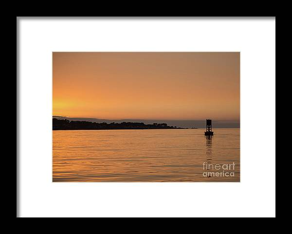 Sunset Framed Print featuring the photograph Sunset At Monterey Bay by Suzanne Luft